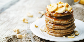 homemade banana pancake